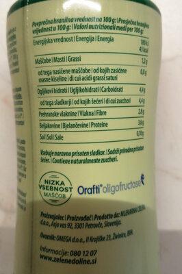 LCA probiotični tekoči jogurt malina - Nutrition facts