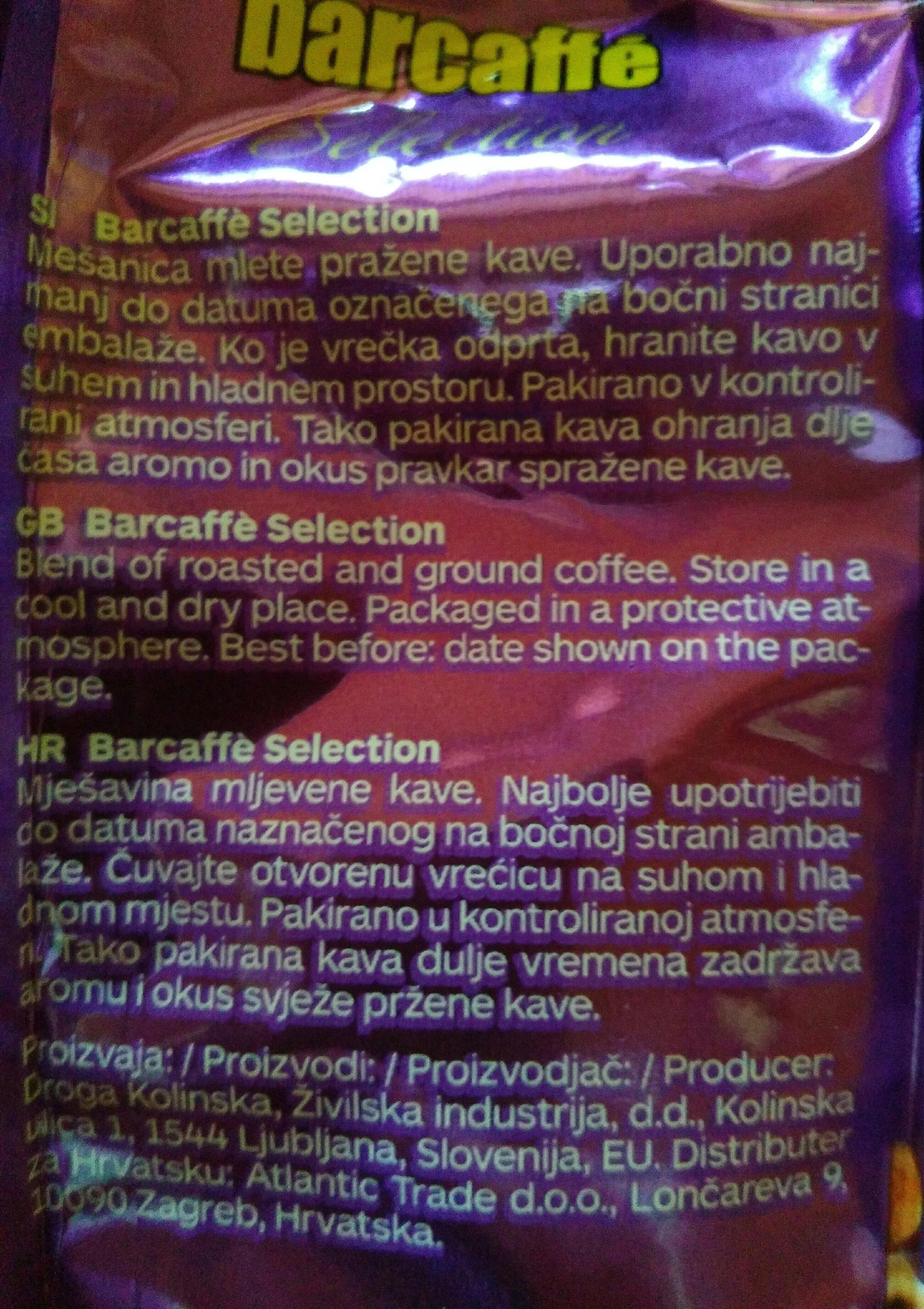 barcaffé Selection - Ingredients - sl