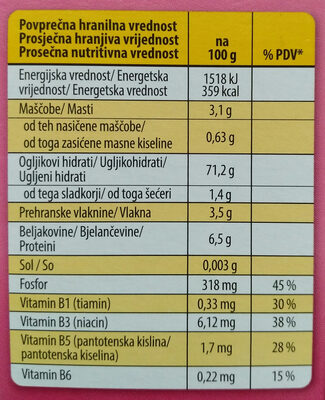 3 Riži rjavi, rdeči in črni - Nutrition facts