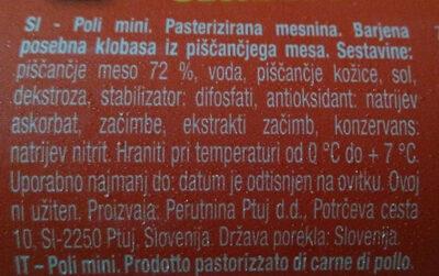 Poli - Ingredients - sl