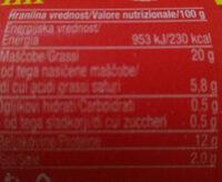 Poli - Nutrition facts - sl