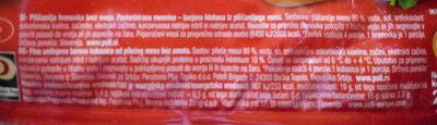 chicken franks - Ingredients - sl