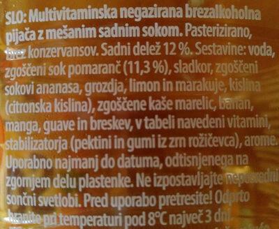 Multi Sola multivitamin - Ingrediënten - sl