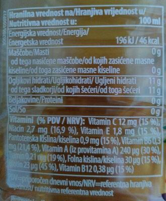 Multi Sola multivitamin - Voedingswaarden - sl