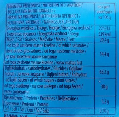 Kras Napolitanke Nougat Wafers - Informação nutricional - fr
