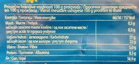 Vegeta - Nutrition facts - sr