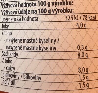 - Výživové údaje - cs