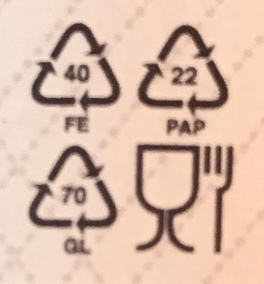 - Recycling instructions and/or packaging information - cs