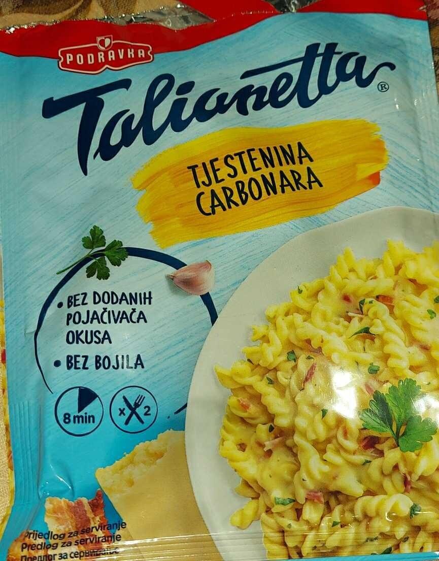 Tjestenina Carbonara - Производ - en