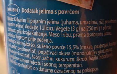 Vegeta - Ingrédients