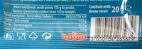 Vegeta pentru paste - Nutrition facts - ro