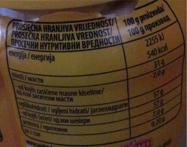 Linolada - Informations nutritionnelles - sr