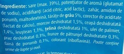 Vegeta Borș cu legume - Ingredients - ro