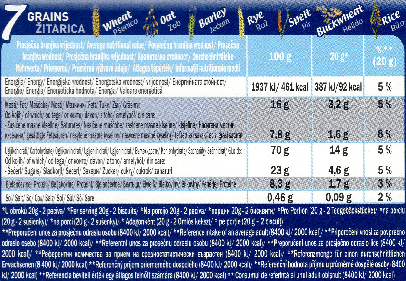 Koestlin Breakfast Biscuits Double chocolate - Informations nutritionnelles
