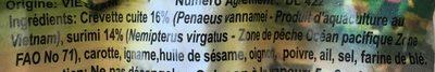 Raviolis Crevette - Ingredients - fr