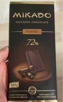 Exclusive chocolate kakao 72% - Product - fr