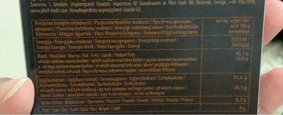 Exclusive chocolate kakao 72% - Voedingswaarden - fr
