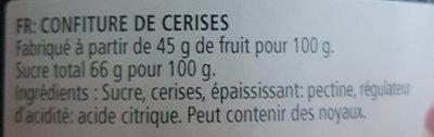 confiture de cerise - Ingredients