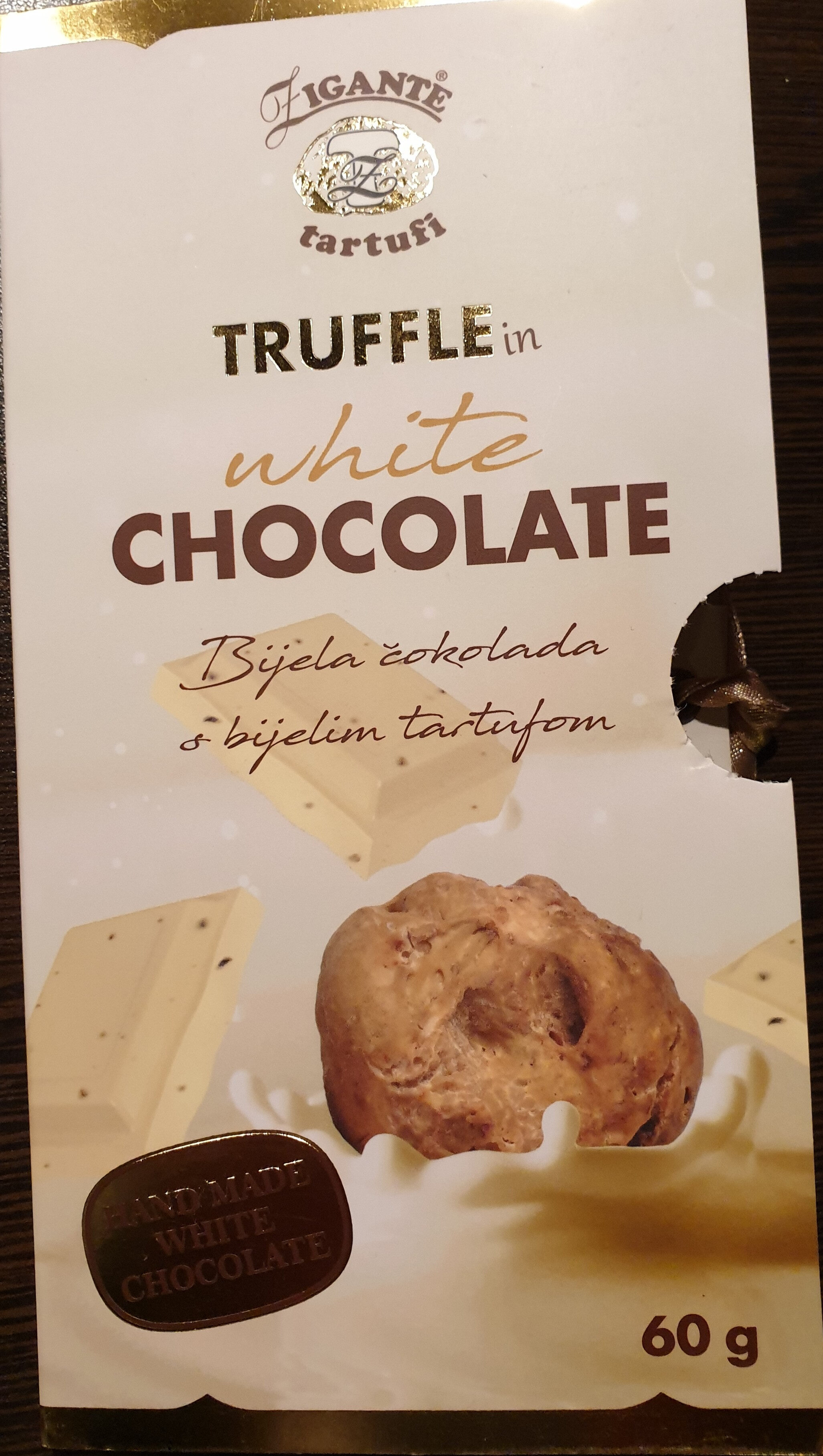 Truffle in white chocolate - Product
