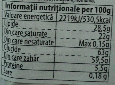 Eurocrem Tabletă de cacao cu lapte - Informations nutritionnelles