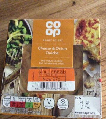Cheese and Onion Quiche - Product - en