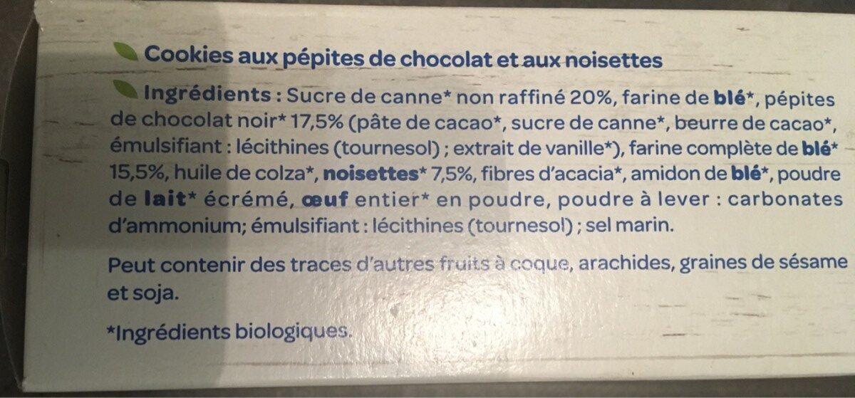 Le cookie chocolat noisette - Ingredients