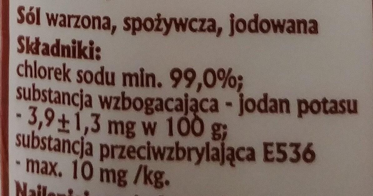 Sól Kujawska - Składniki - pl
