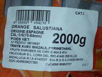 Orange salustiana - Ingredients - fr