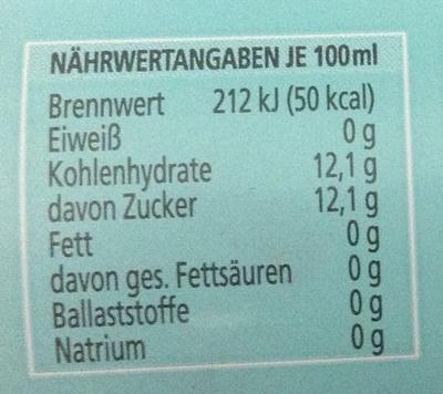 Schweppes Original Bitter Lemon - Informations nutritionnelles - de