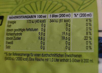 Lemon & Mint - Valori nutrizionali