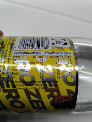 Tonic Water Zero - Nutrition facts