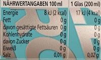 Bitter lemon zero - Informations nutritionnelles - de