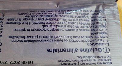 Gélatine - Voedingswaarden - en