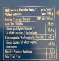 Vollmilch Marzipan - Nutrition facts