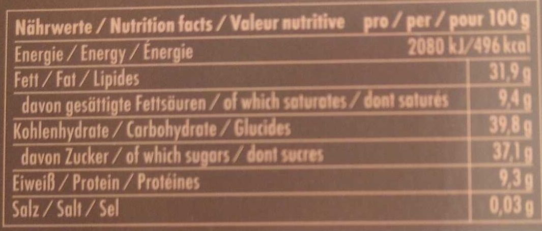 Double Chocolate - Nutrition facts