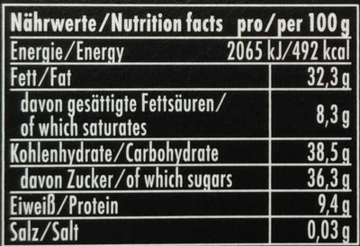 Espresso Marzipan - Informations nutritionnelles