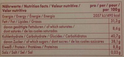 Niederegger Sortiment 400G - Informations nutritionnelles - fr