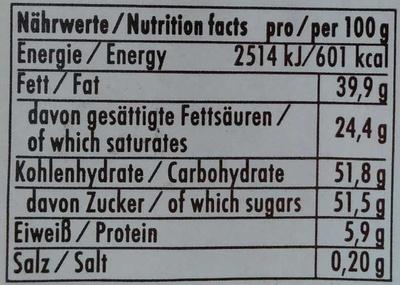 Marc de Champagne - Informations nutritionnelles