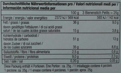 Bienenstich Petits - Informations nutritionnelles - de