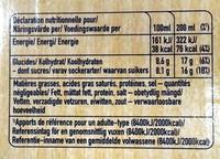 Capri-Sun pomme cassis cerise bio - Valori nutrizionali - fr