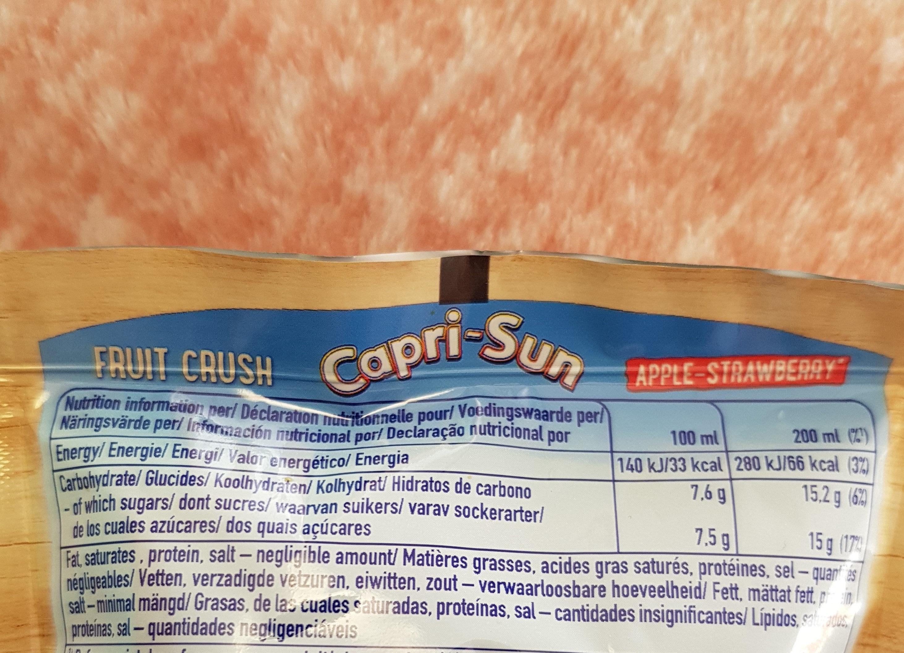Caprisun - Informations nutritionnelles
