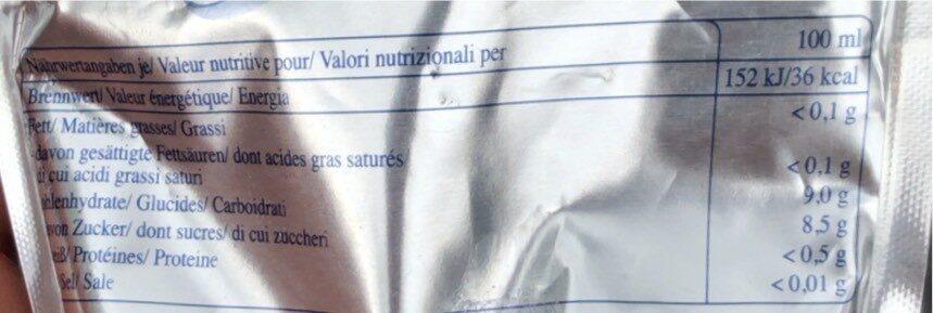 Capri-Sonne citron - Valori nutrizionali - en
