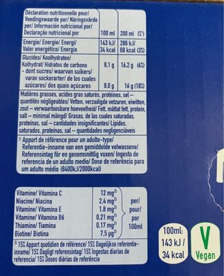 Capri-Sun Multi Vitamin - Valori nutrizionali - es