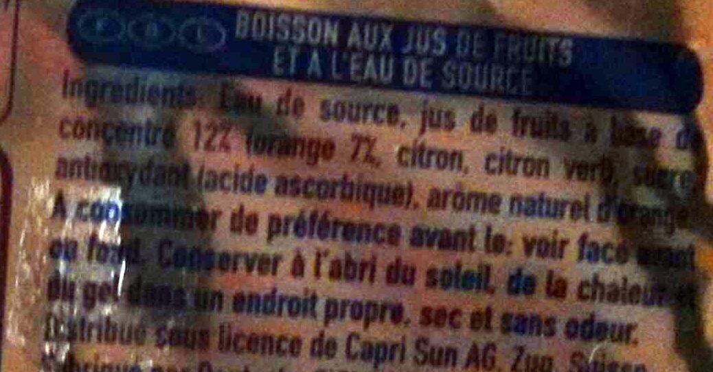 Orange - Ingredientes - fr