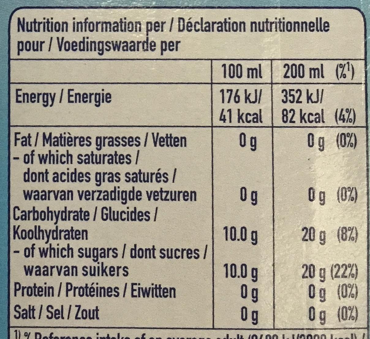 Capri-Sun Orange - Valori nutrizionali - fr