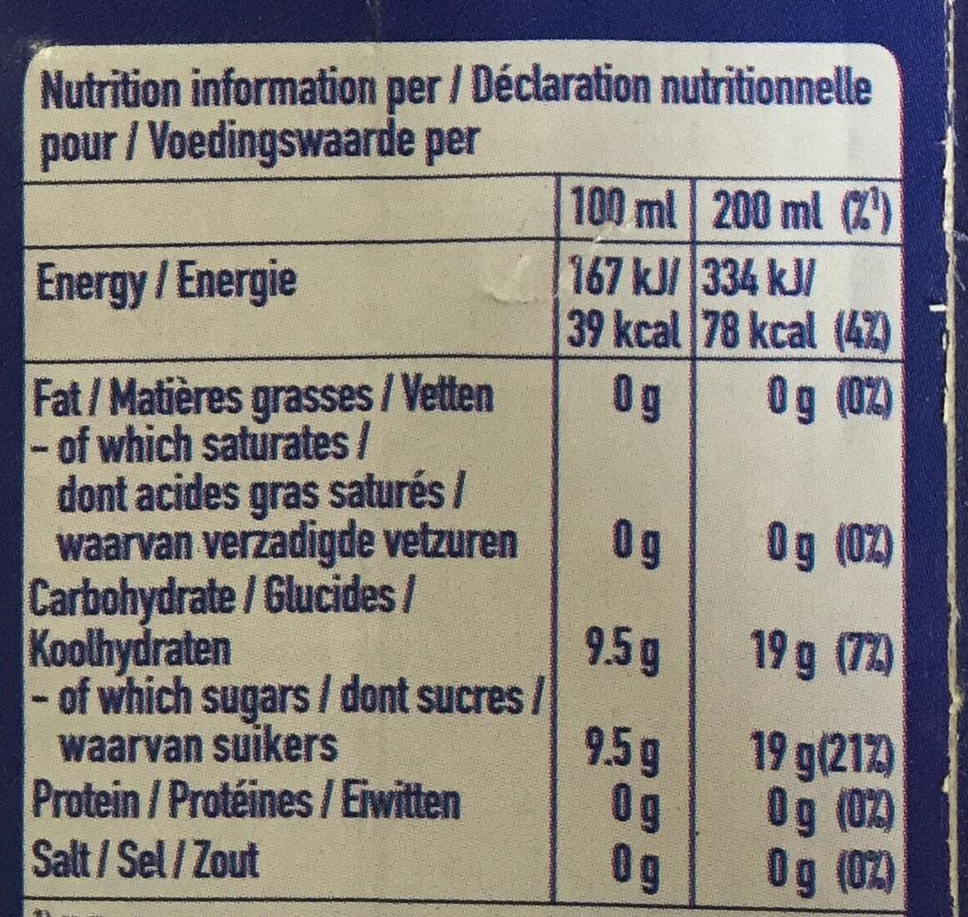 Multivitamin - Valori nutrizionali - fr