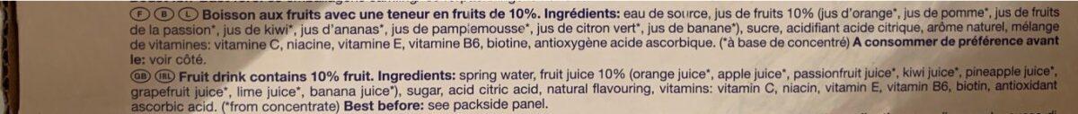 Capri-sonne Multivitamin 33 Cl, 15 Sachets - Ingredienti - fr