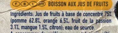 Fruit Crush - Tropical - Ingredienti - fr