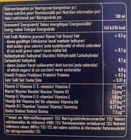 Multi Vitamin x - Nutrition facts