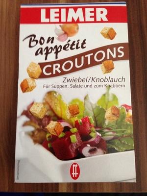 Croutons Zwiebel-Knoblauh - Produit - fr